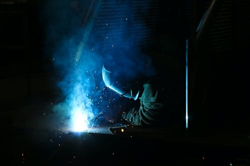 Man Using a Electric Welding