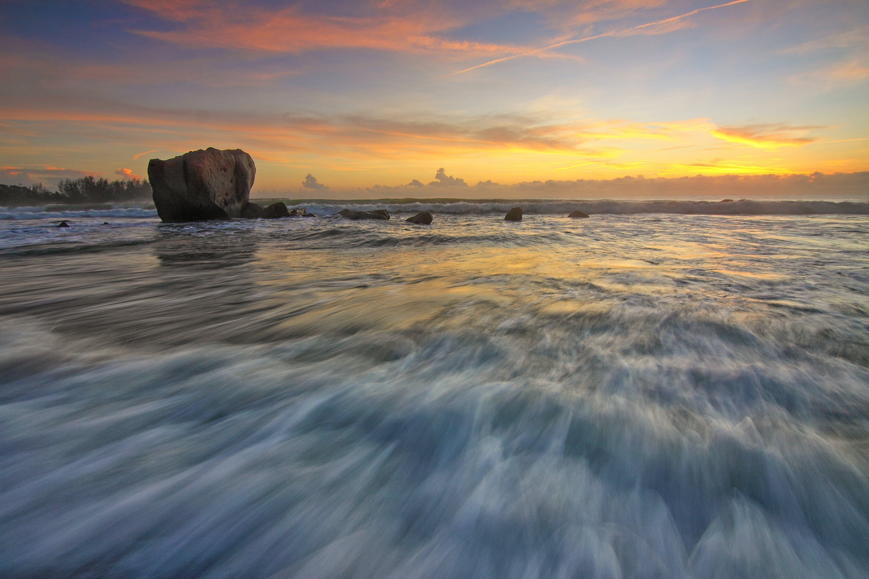 Time-lapse Photography of Body of Water