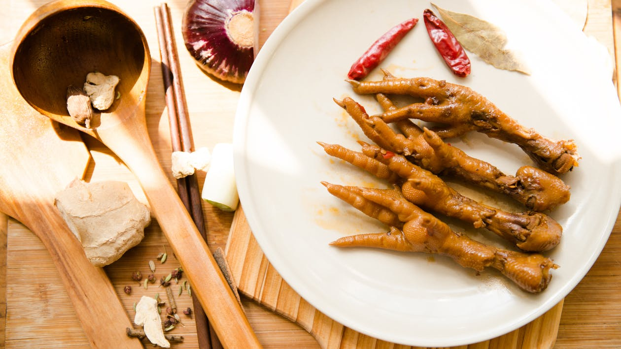 chicken, Chicken feet, meat