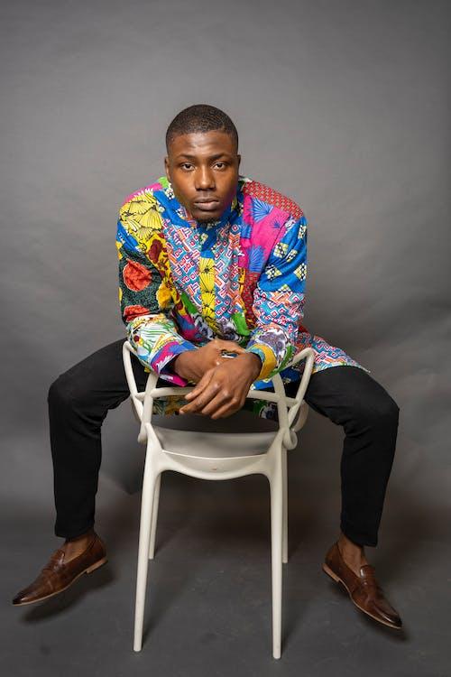 Gratis lagerfoto af afroamerikansk mand, ansigtsudtryk, fotosession, fyr
