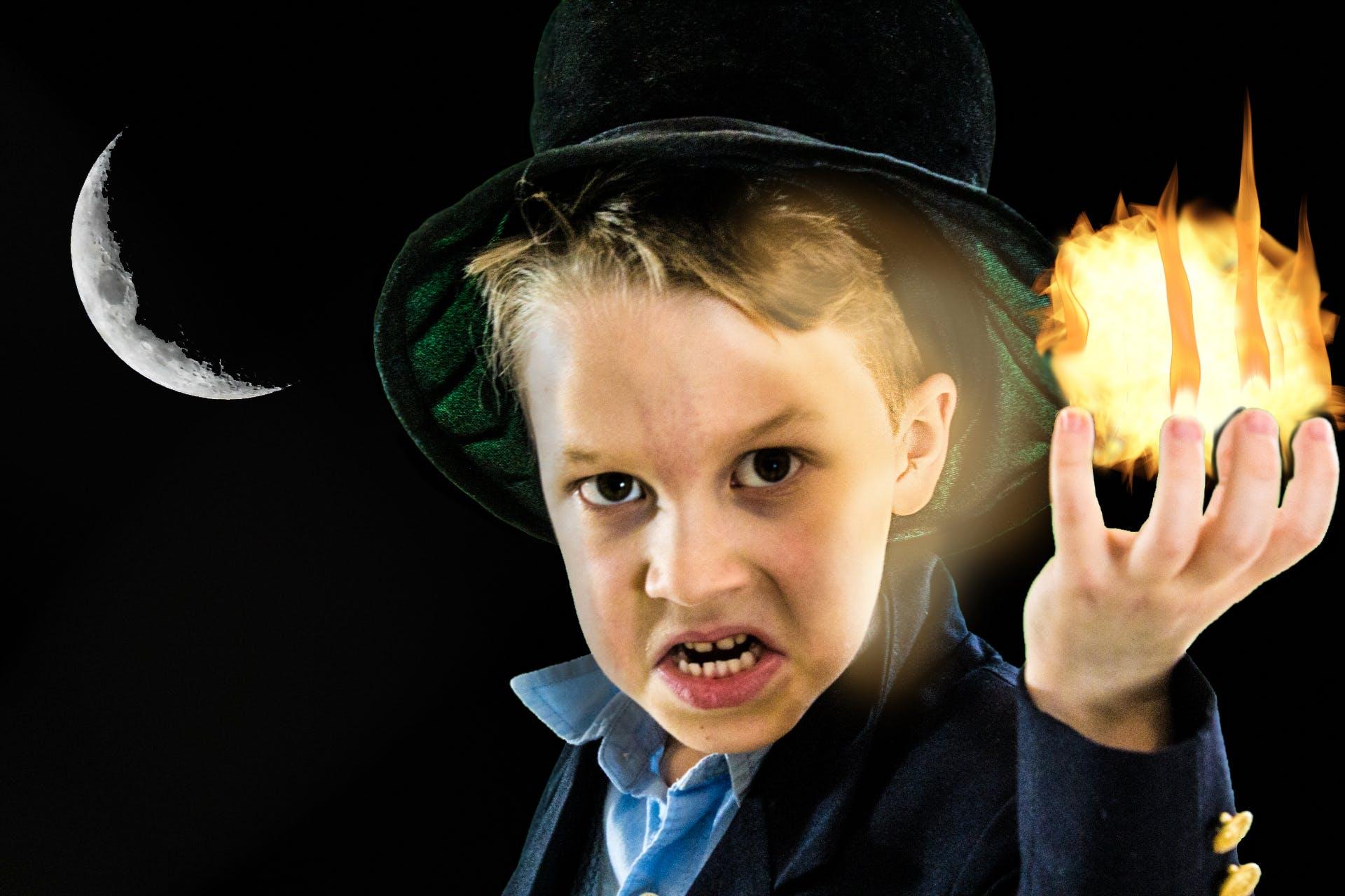Free stock photo of angry, black, black magic, boy