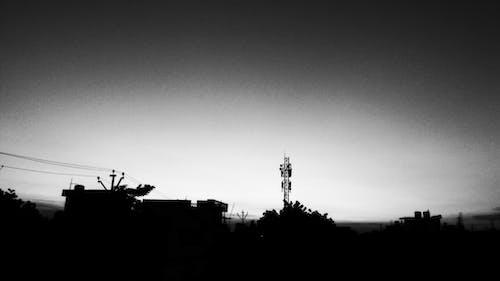 Free stock photo of black and white, black and-white, dark, sky