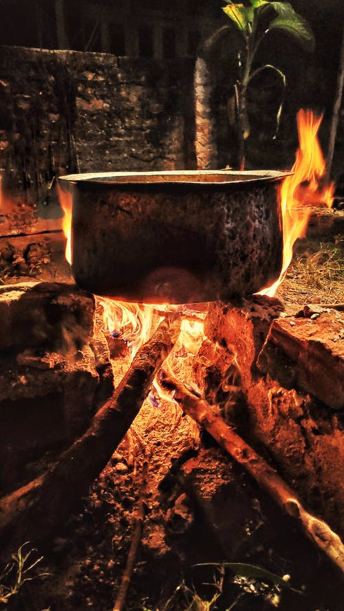 Free stock photo of bonfire, cooking pot, dinner