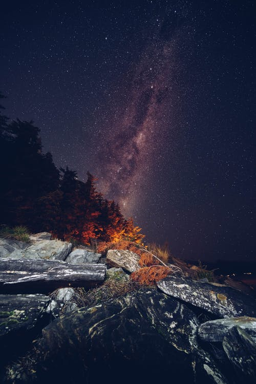Galaxy Photo During Night time