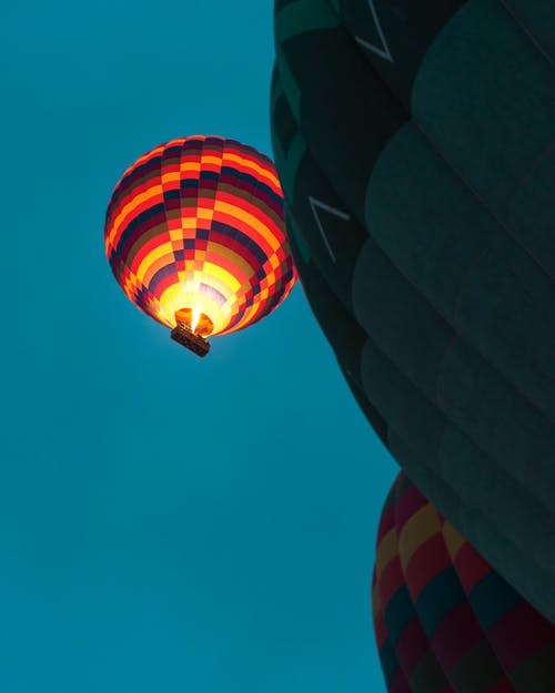 Multicolored of Hot Air Balloons