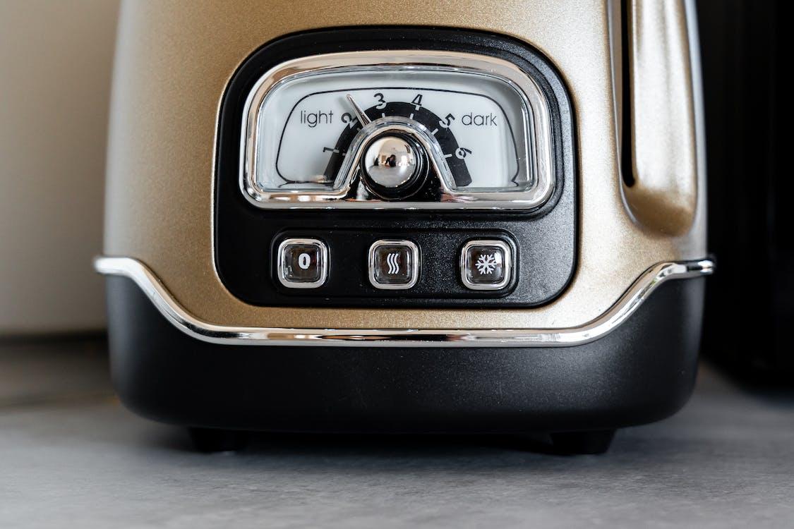 Black and Brown Vintage Toaster