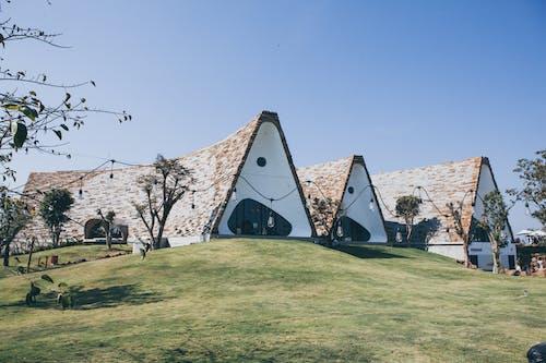 Kostenloses Stock Foto zu architektur, außerorts, baum, bungalow