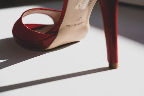 A Photo Of a Red High Heels