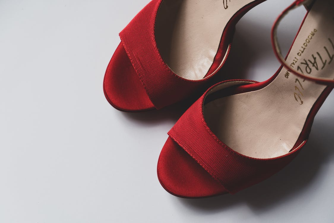 A Red Trendy High Heels