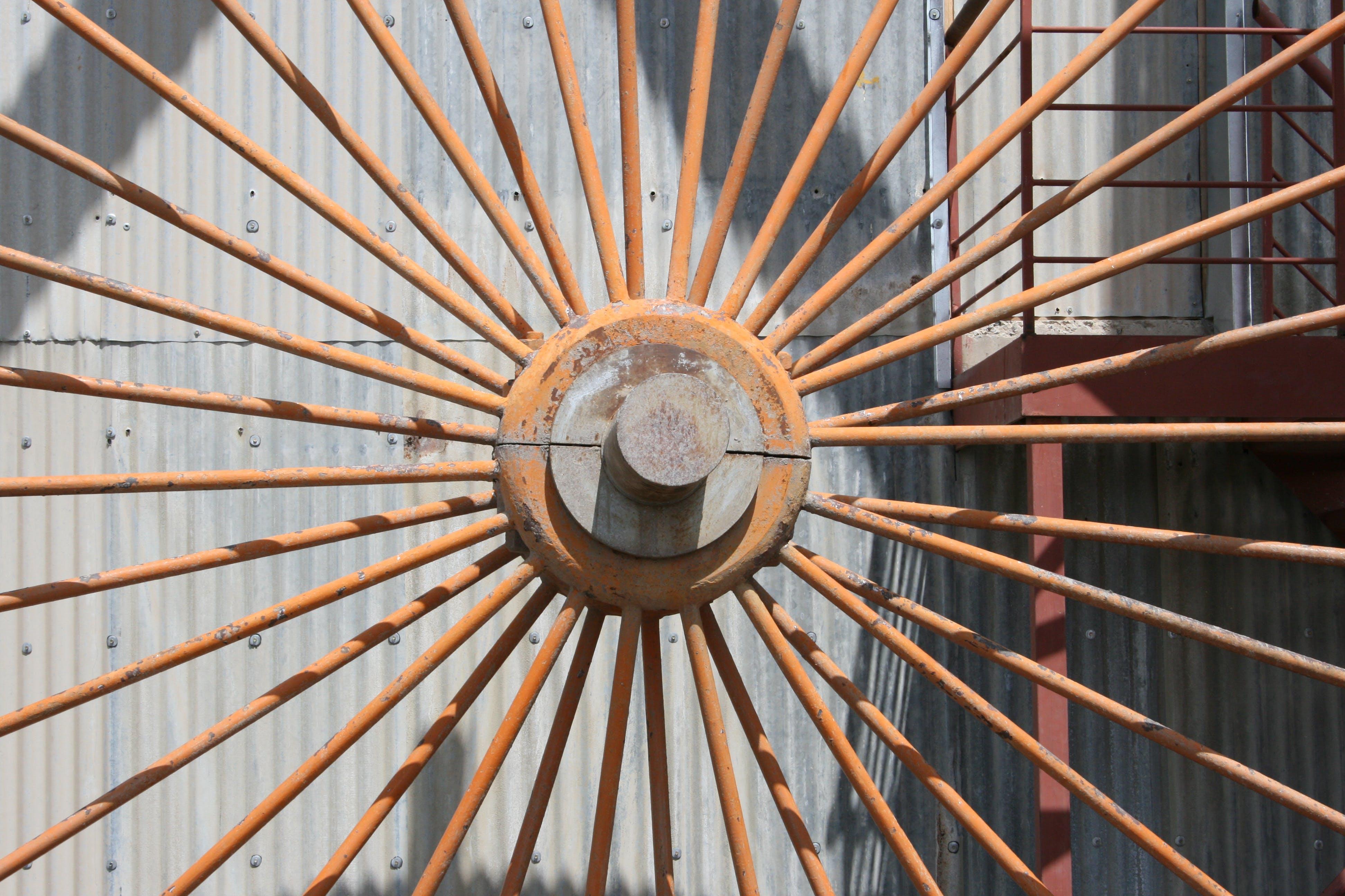Free stock photo of metal, rust, wheel, turn
