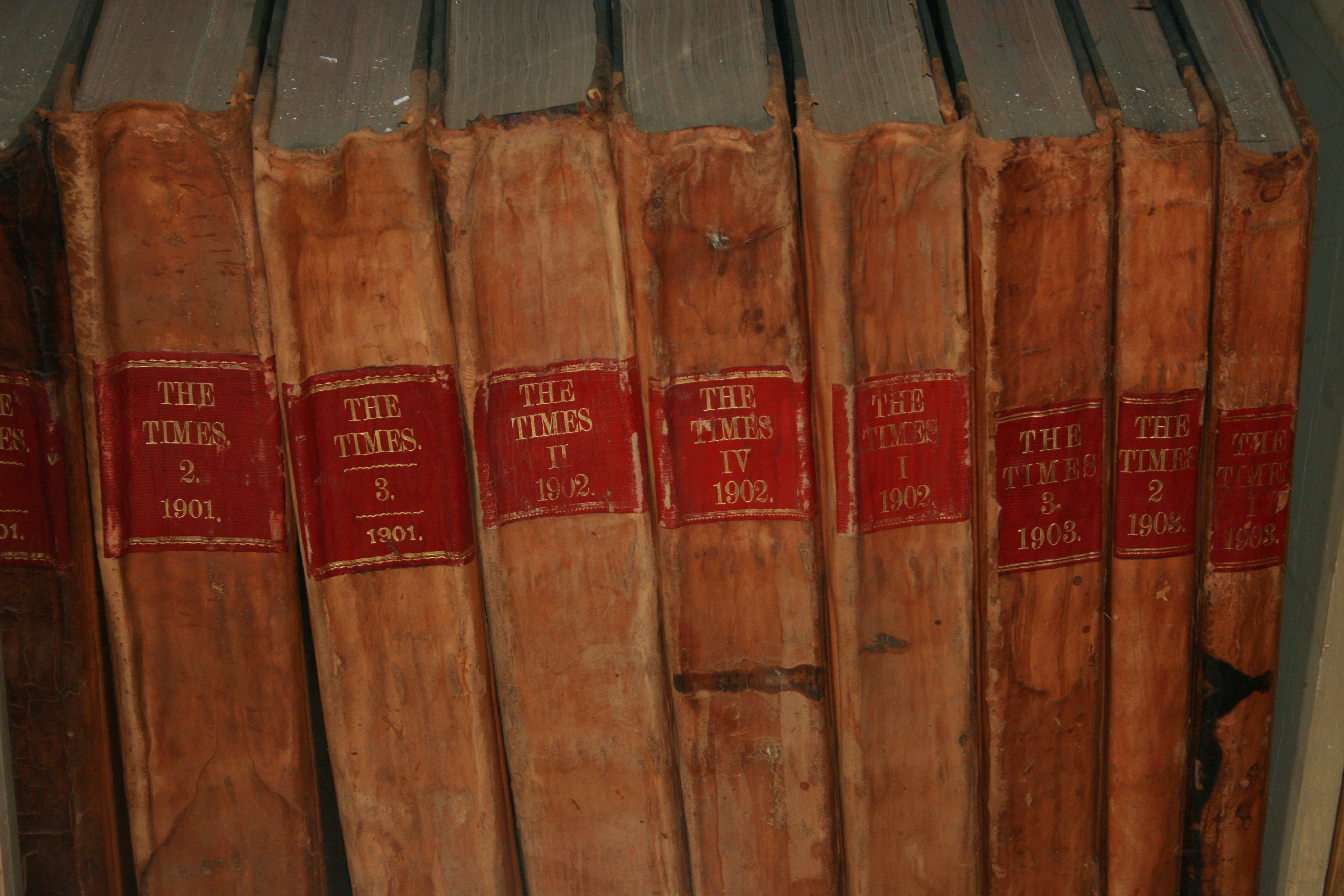 Free stock photo of books, school, reading, leather