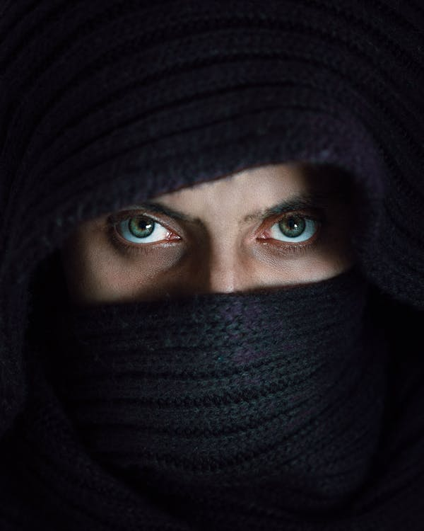 Photography of Person Wearing Black Hijab
