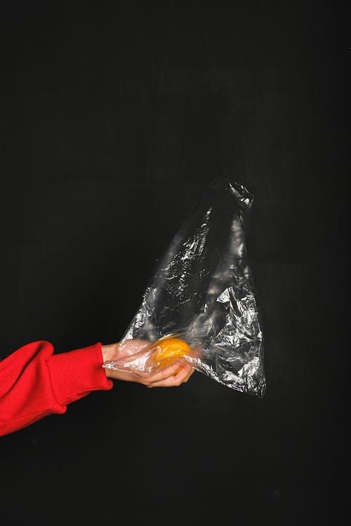 gyümölcs, kéz, környezetszennyezés