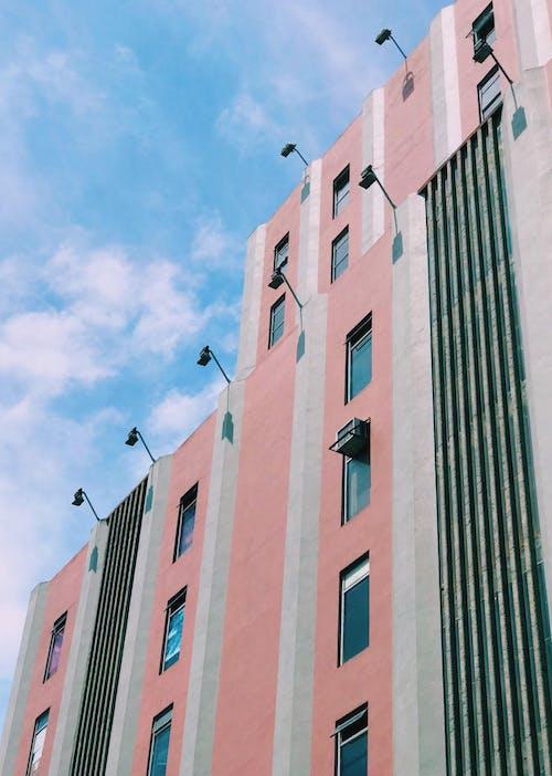Pink Building Under Blue Sky