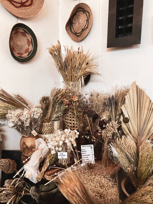 Brown and White Wooden Decor