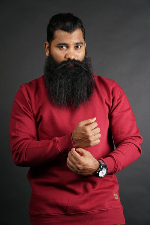 Photo Of Man Wearing Red Sweater