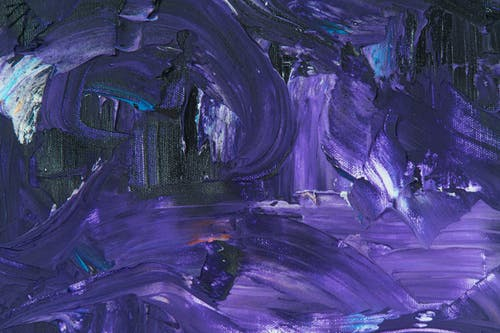 Purple Abstract Painting on Canvas