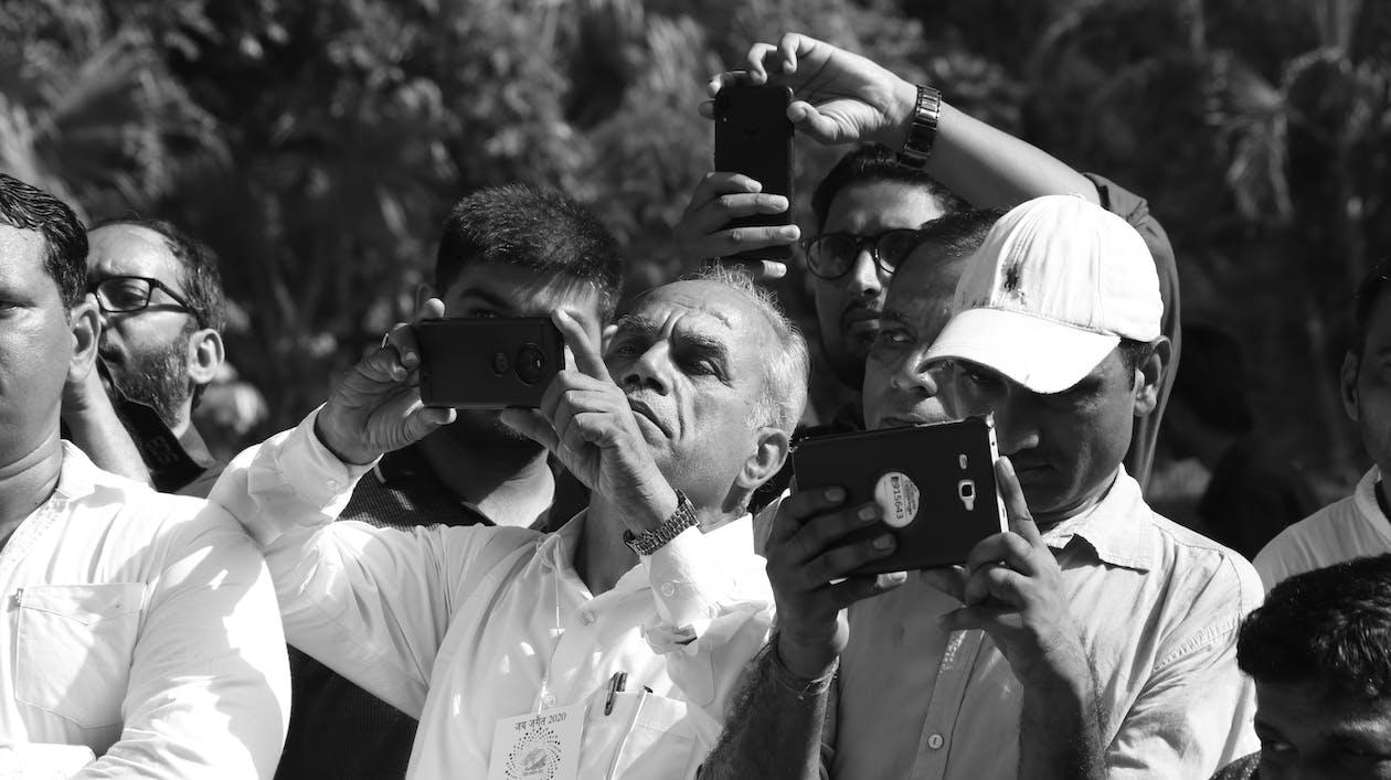 Free stock photo of india, journalists, photo