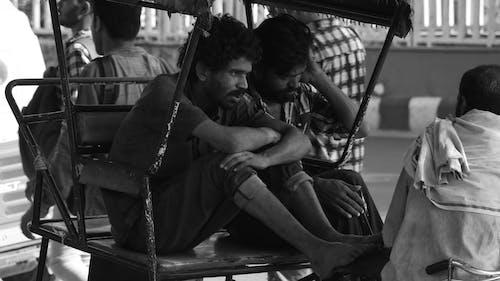 Free stock photo of auto rickshaw, india, men