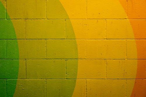 Gelbe Und Orange Betonwand