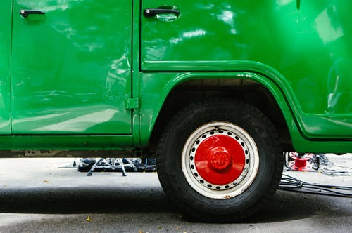 Free stock photo of car, green, street, van