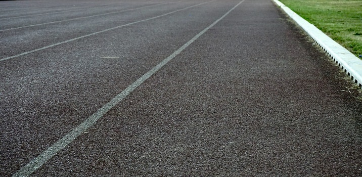 Free stock photo of road, texture, grass, straight