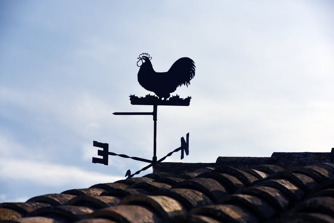Wind Vane Beside Roof