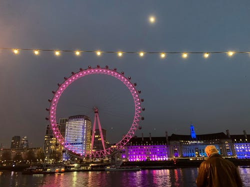 Free stock photo of Man and london eye