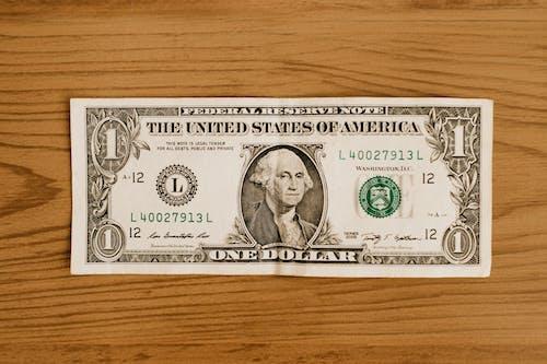 Immagine gratuita di $ 1, banconota, banconote, carta