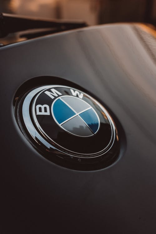 Black and Silver BMW Emblem