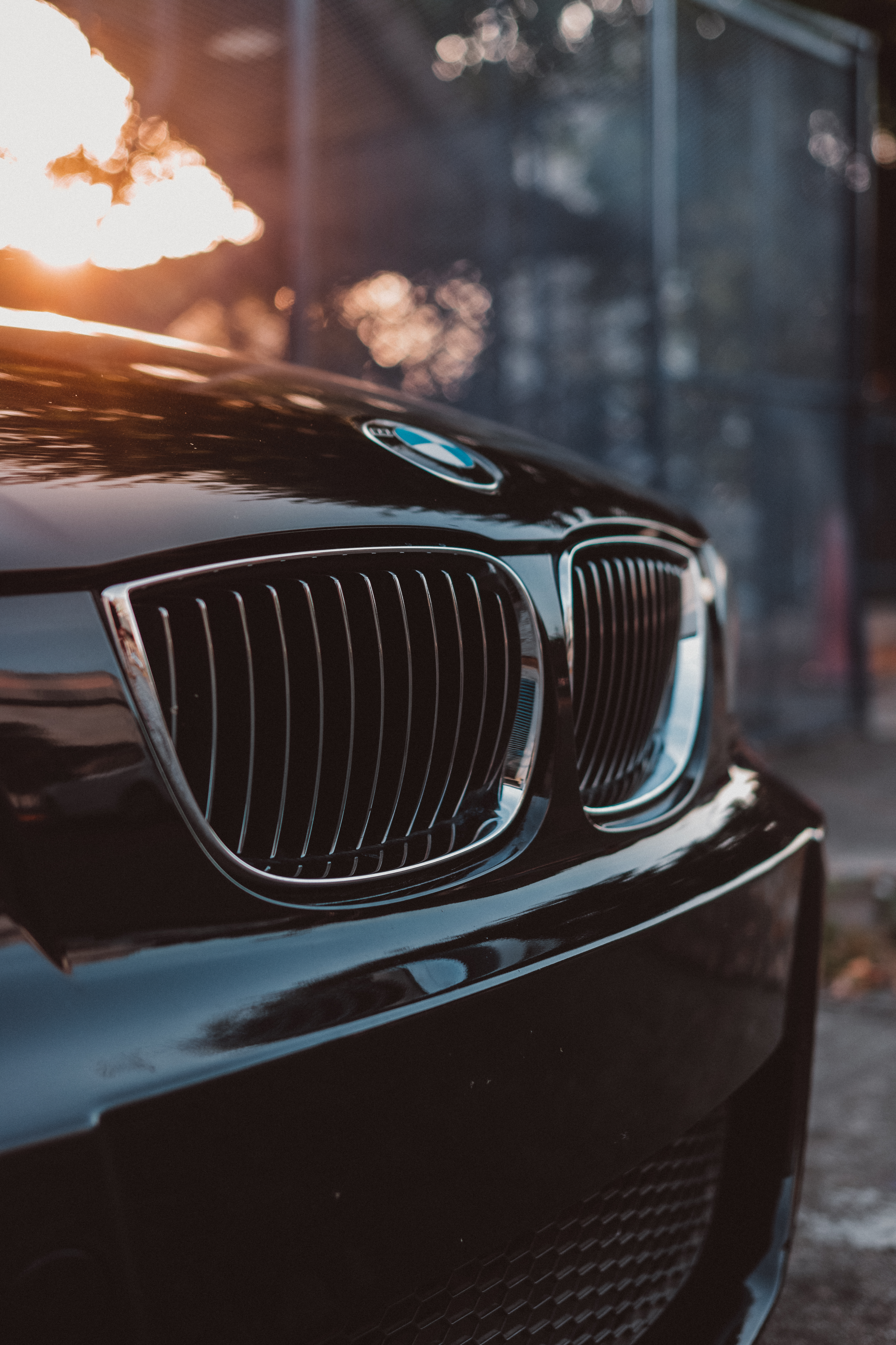 Black Bmw Car In Close Up Photography Free Stock Photo