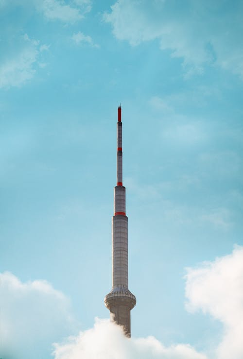 The CN Tower Under Blue Sky