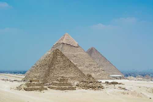 Great Pyramid Of Giza Under The Blue Sky