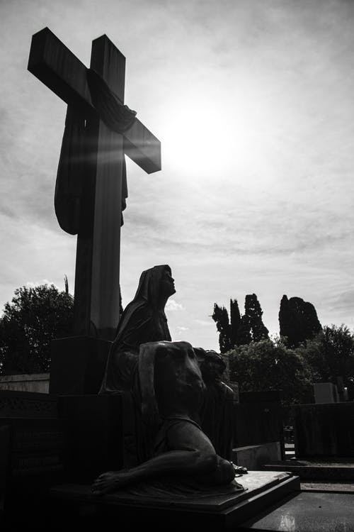 Základová fotografie zdarma na téma hřbitov, ježíš, král, socha