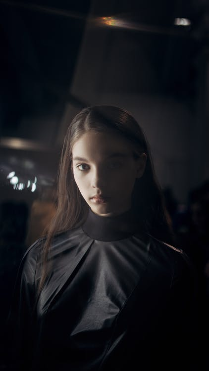Photo Of Woman Wearing Black Turtle Neck Top