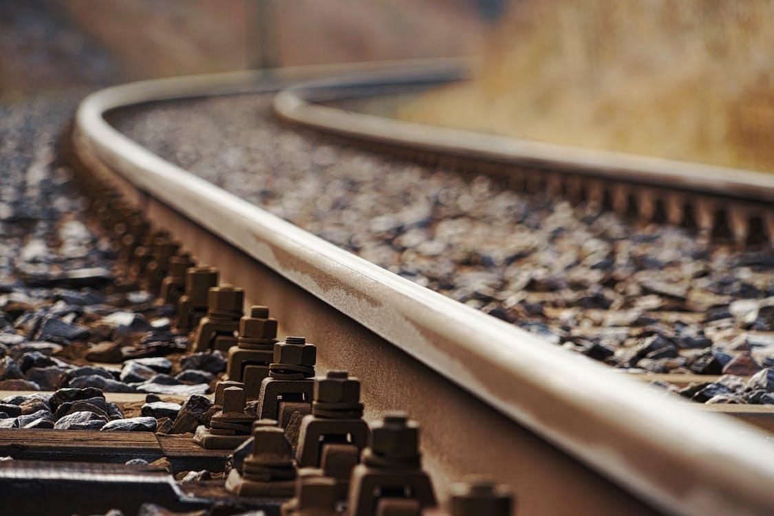 Close-Up Photo Of Rail Tracks
