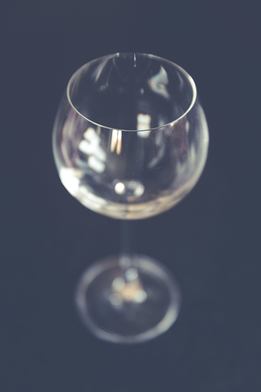Empty Clear Wine Glass