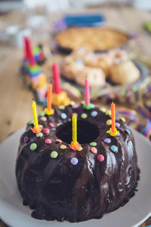 Chocolate Cake in Shallow Photo