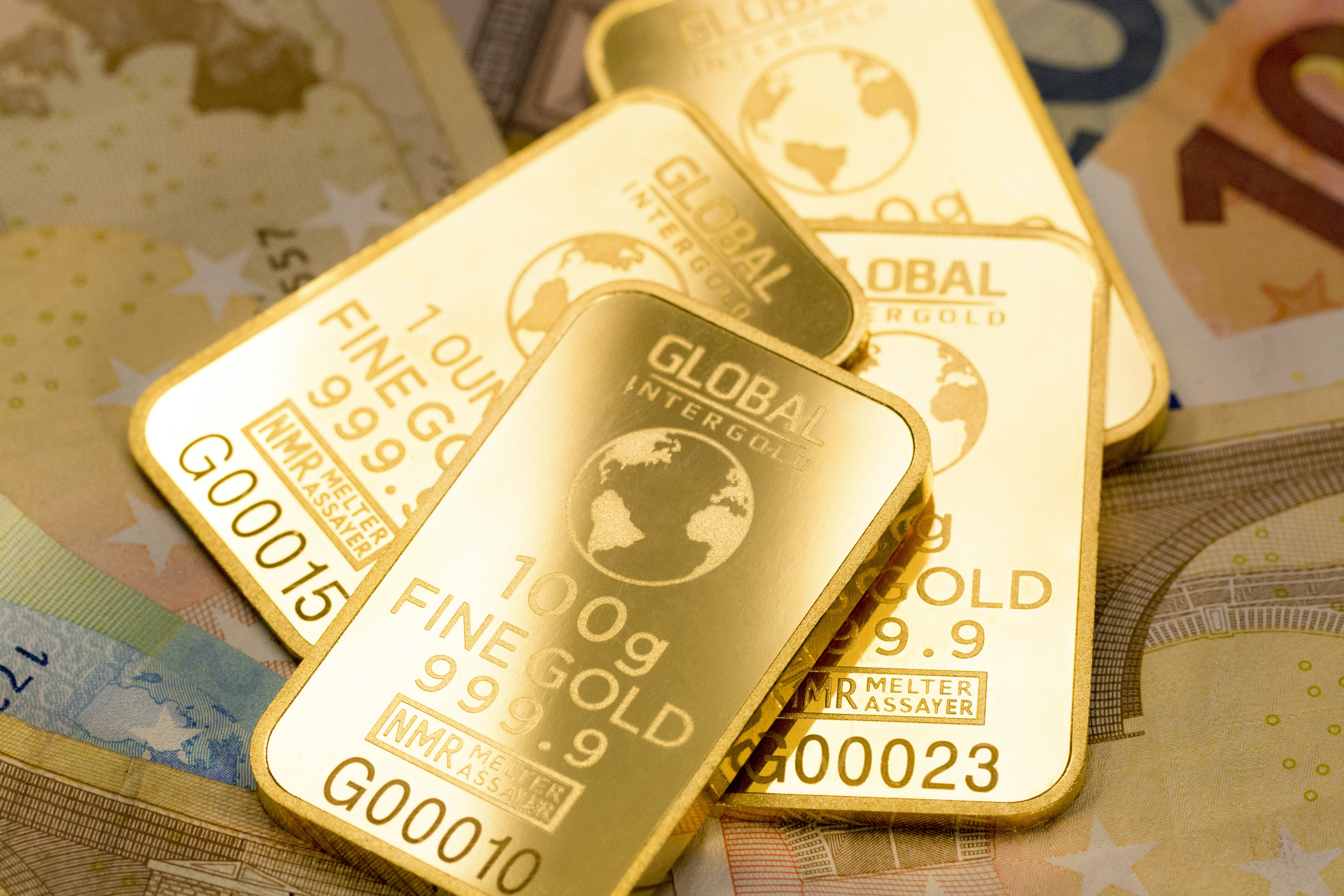 Free stock photo of business, global intergold, gold bars, gold is money