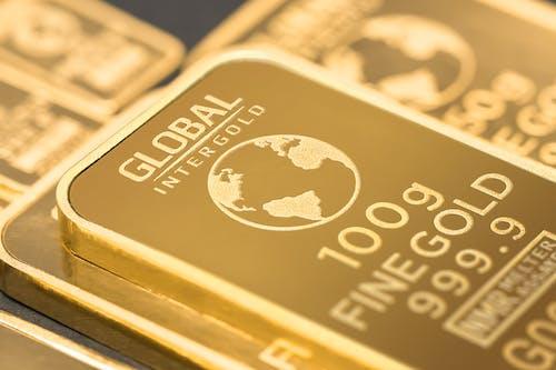 Imagine de stoc gratuită din aurul este bani, bani, global intergold, lingouri de aur