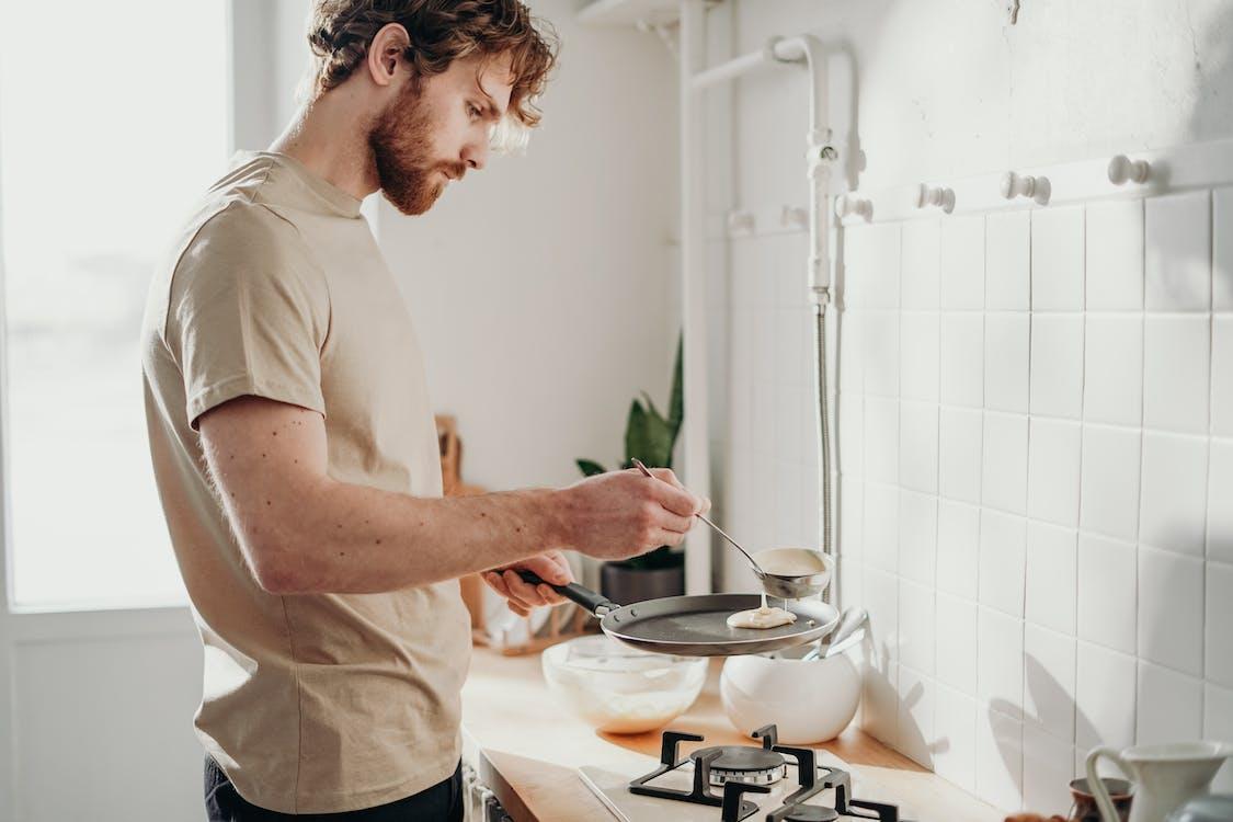 Man Cooking Pancakes