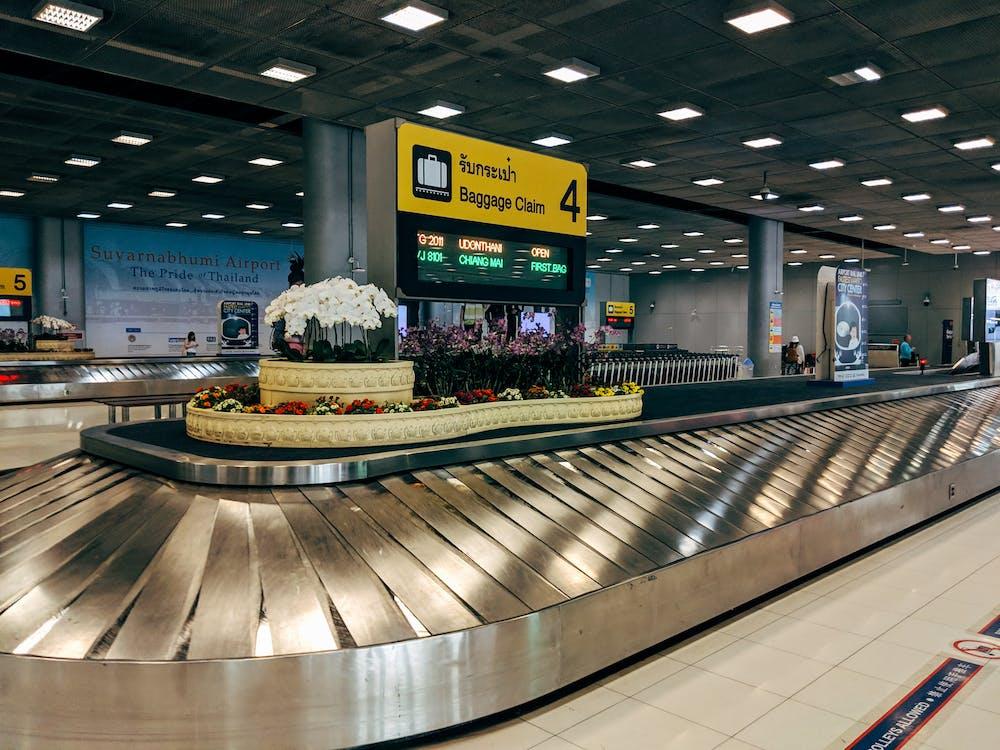 A Luggage Conveyor Inside Airport