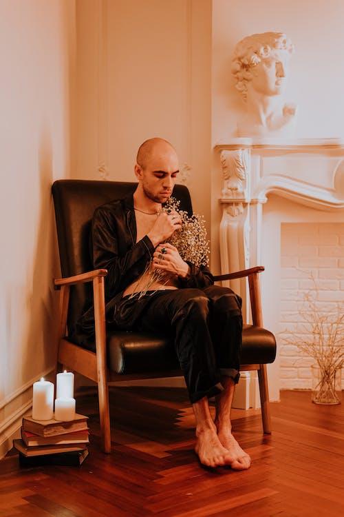 Imagine de stoc gratuită din așezat, bărbat, blând, cald si comfortabil
