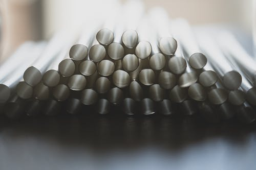 Selective Focus Photo of Drinking Straws