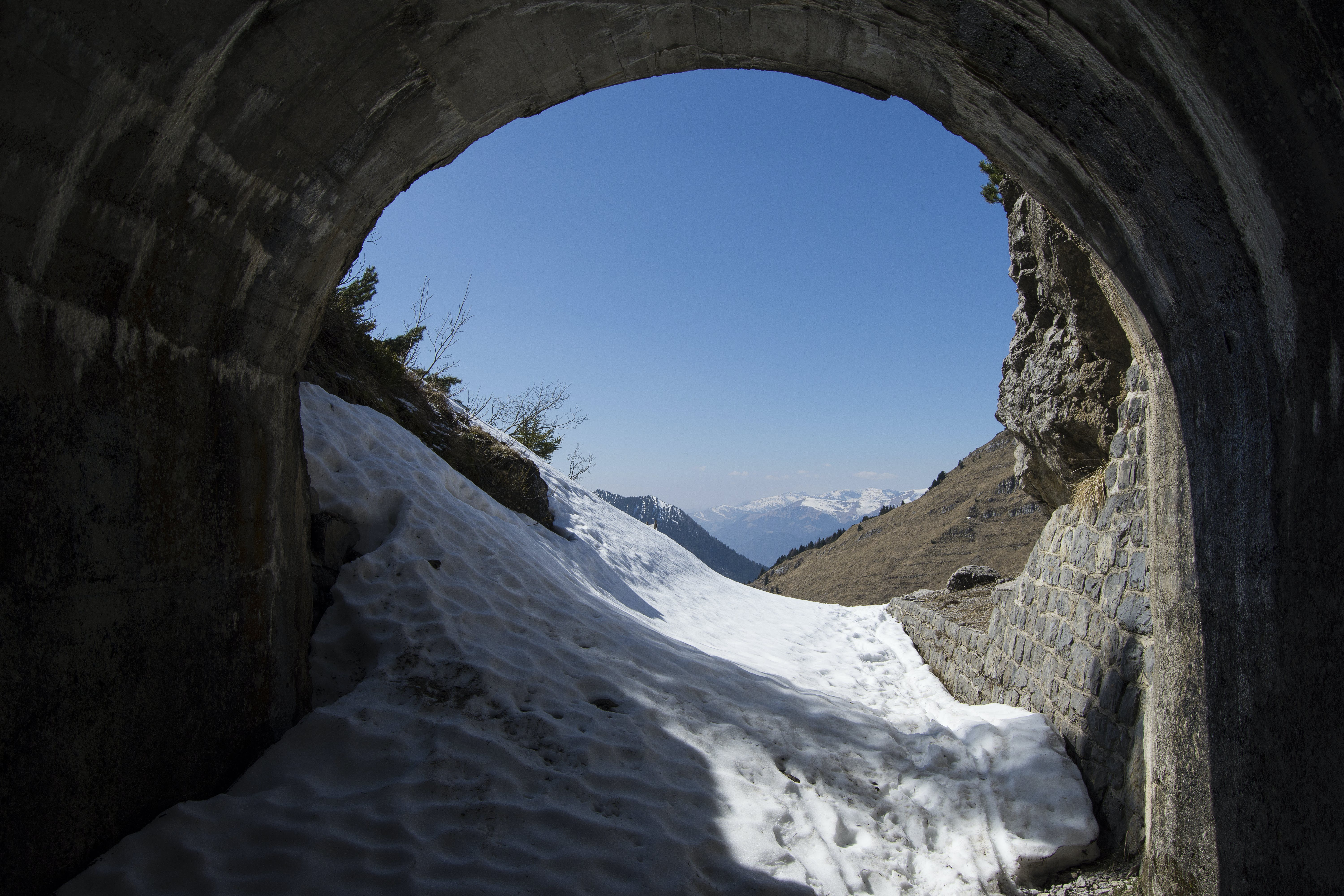 Free stock photo of melting, snow, spring, tunnel