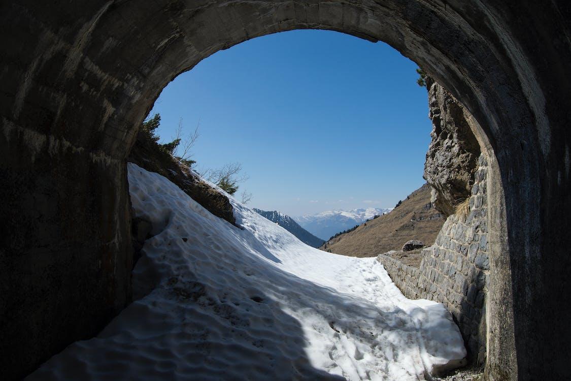 Darmowe zdjęcie z galerii z śnieg, topienie, tunel