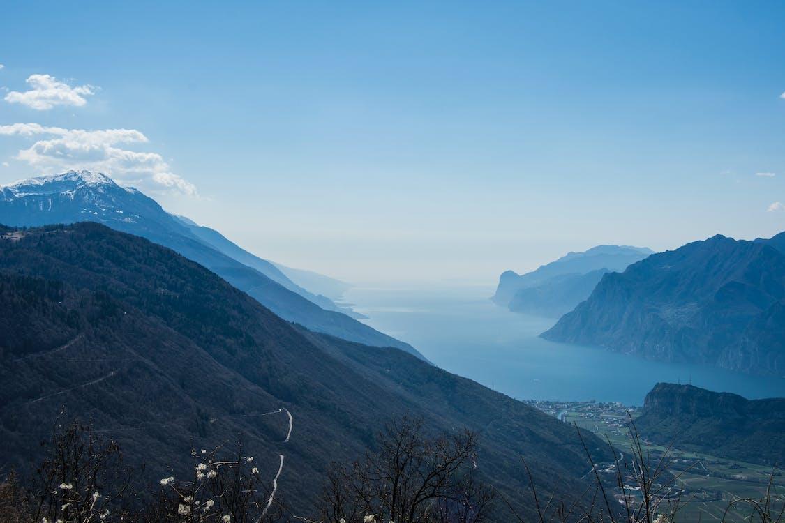 山岳, 山湖の無料の写真素材