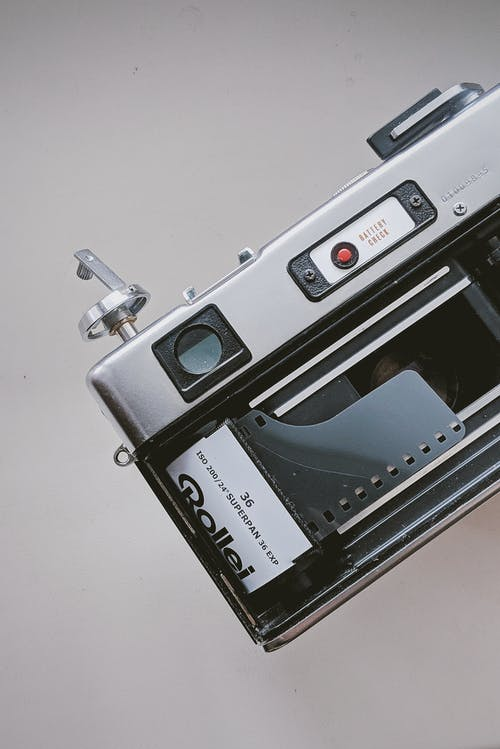 Close-Up Photo Of Analogue Camera