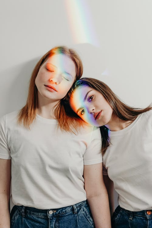 Women Wearing White Shirt