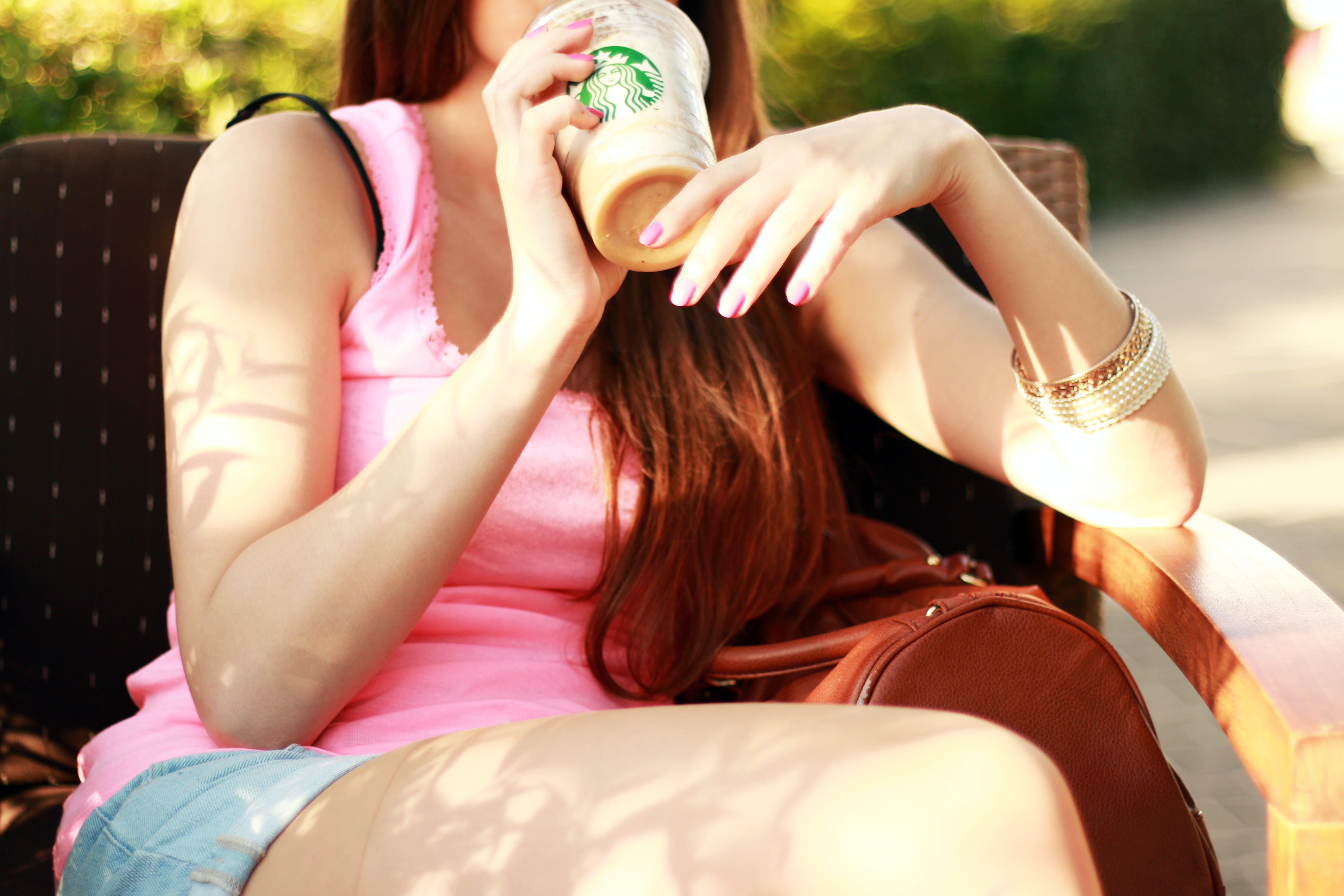 coffee, cup, girl